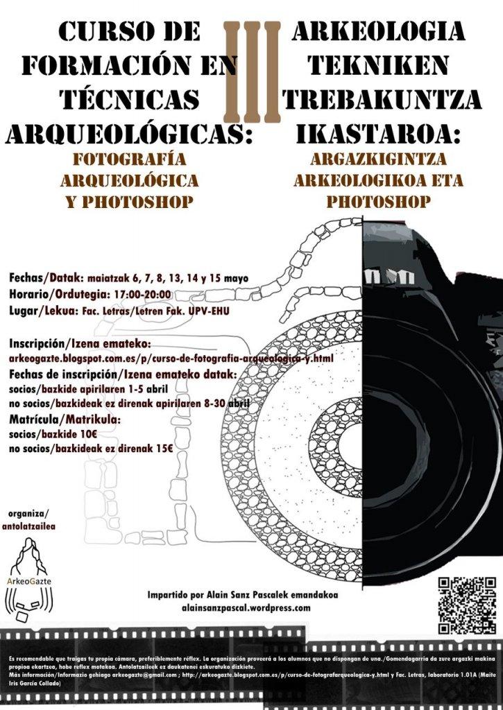CURSO DE FOTOGRAFÍA ARQUEOLÓGICA Y PHOTOSHOP